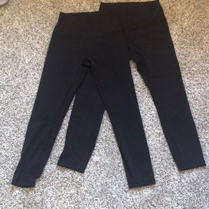 TWO pairs of Lulemon 7/8 length leggings.